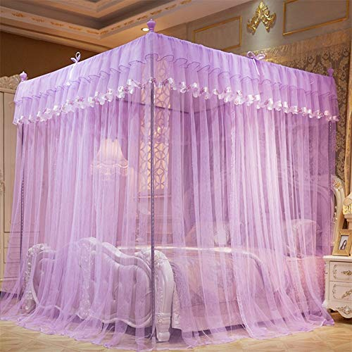 Buy Discount 4 Corner Canopy Curtains Bed Canopy Luxury Princess Four Corner Post Bed Curtain Canopy...