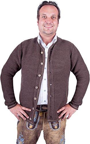 Almwerk Herren Trachten Strick Jacke Modell Xaver, Farbe:Braun;Größe:56