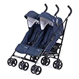 Knorr-baby 832200 - Passeggino gemellare Side by Side, colore: navy
