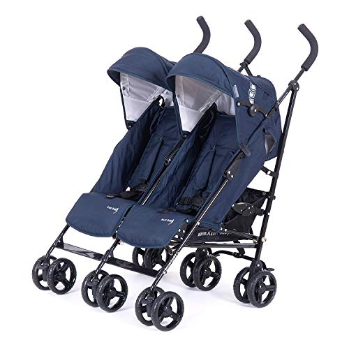Knorr-Baby 832200 Poussette Double Side by Side, Navy Blue