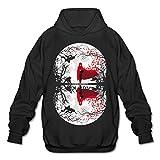 POOZ Men's RWBY Starry Crescent Sky Ruby Rose Logo Sweatshirt Black Size L