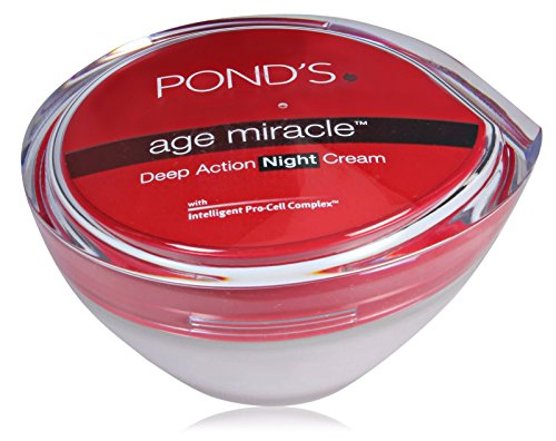 Pond's Beauty Products Gold Radiance, Age Miracle, Flawless (Age Miracle Deep Action Night Cream) 50gm by Pond's