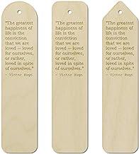 3 x Love Quote by Victor Hugo Birch Bookmarks (BK00001732)