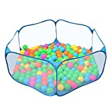 Zerodis Plegable Ocean Ball Play Carpa Portátil Plegable Almacenamiento Ocean Ball Pit Pool Tienda de Dibujos Animados Bebé Regalo Divertido para Niños Pequeños Jugando al Aire Libre