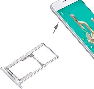 香港携帯電話の付属品 Meizu M3 Note/Meilan Note 3 SIM SIM/Micro SDカードトレイ 交換部品 (色 : Silver)