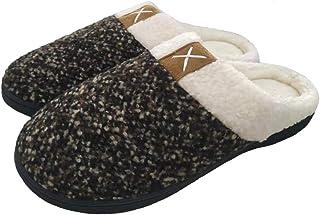 شباشب من القطن المرن للرجال والنساء نعال دافئة أحذية المنزل بطانة مخملية مريحة غير قابلة للانزلاق