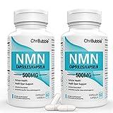 NMN Suplementos | 500 mg por cápsula | Potente aumento de los niveles de NAD + para mejorar el rendimiento mental y antienvejecimiento | 120 cápsulas de mononucleótido de nicotinamida (2 PACK)