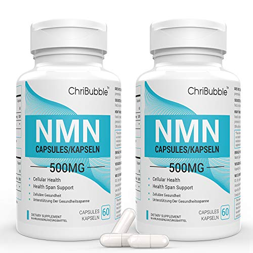 2 Pack NMN Supplements with Maximum Strength | 500mg Per Capsule | Powerful Boost NAD+ Levels for Supports Anti-Aging & Mental Performance | NAD Supplement | 120 Capsules Nicotinamide Mononucleotide