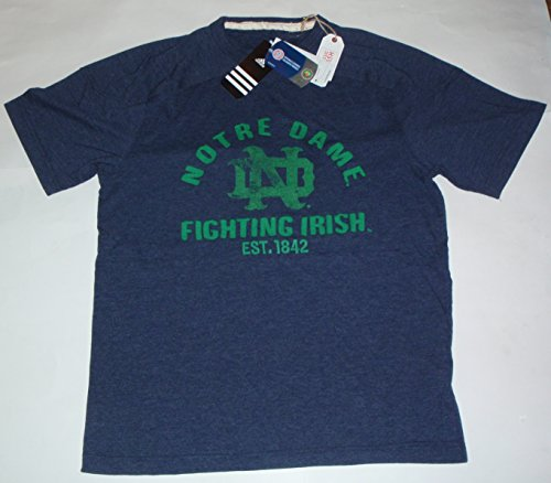 Notre Dame Fighting Irish Classic Wash Blau Aufnäher Adidas Originals T-Shirt (mittel)