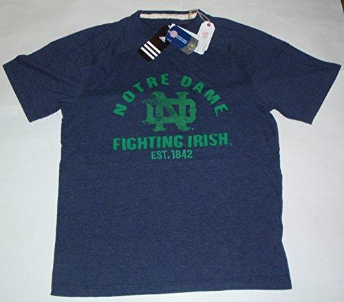 Notre Dame Fighting Irish Classic Wash Blau Aufnäher Adidas Originals T-Shirt (mittel)