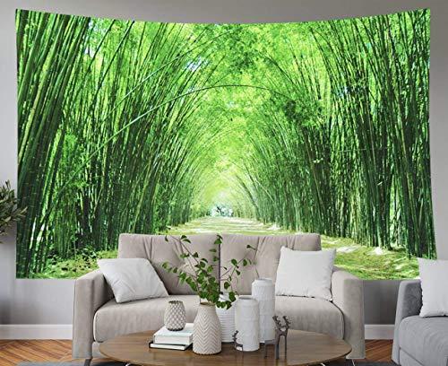 Tapiz de regalo para el padre, tapices para colgar en la pared del hogar Arte para D & eacute; cor Sala de estar Dormitorio Bosque de bambú Que ocurre naturalmente en wat Chulabhorn Wanaram Nakhon Nay