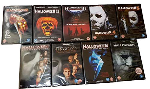 Halloween 1-9 Complete Collection: Halloween 1,2,3,4:The Return of Michael Myers, 5: The Revenge of Michael Myers, 6:The Curse of Michael Myers, Halloween H20, Halloween: Resurrection, Halloween 9
