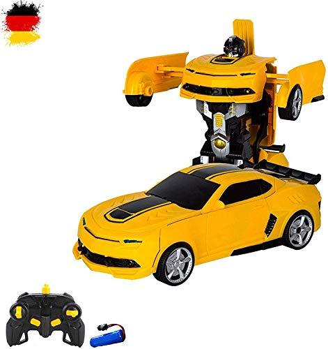 RC ferngesteuertes Roboter-Auto, Transformation per Knopfdruck, Komplett-Set RTR inkl. 2,4GHz Fernsteuerung, Akku und Ladegerät