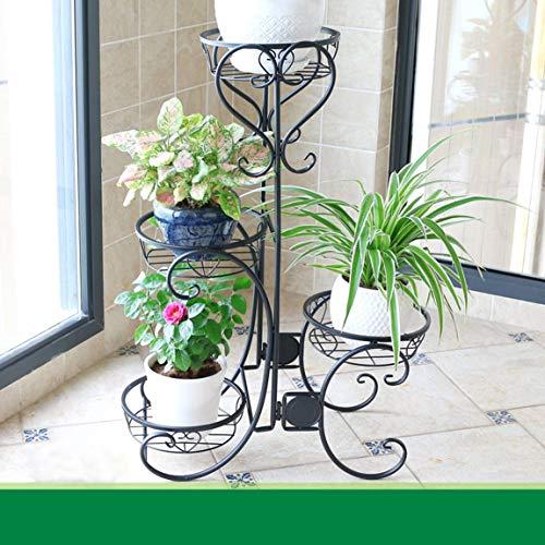 LRW Zwarte Europese bloemenframe, ijzeren kunst, balkon met meerdere verdiepingen, groene verblijfsruimte, bodemsoort bloempot frame