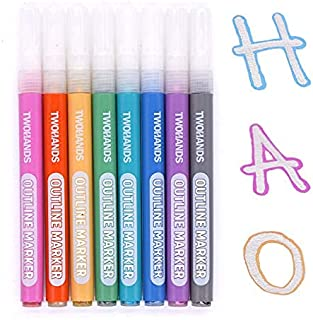 Sponsored Ad – Double Line Pen, Metallic Markers, Glitter Outline Pens,Stationery for Card Making, Birthday Greeting, Scra...