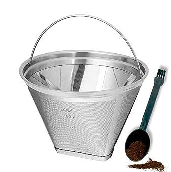YEOSEN Coffee Filter 4 Cone Coffee Filter Reusable fit for Cuisenart Ninja Hamilton Beach Brewer