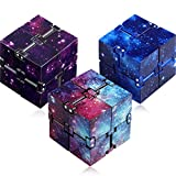 3 Pieces Infinity Cube Prime for Stress and Anxiety Relief Sensory Tool Game Supplies (Starry Color, Starry Blue, Starry Purple)