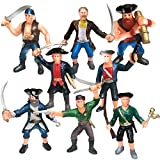 ArtCreativity Pirate Figures, Set of 8 Men, Legendary Plastic Figures, Birthday Party Favors for Boys and Girls, Goody Bag Stuffers, Piñata Fillers, Great Gift Idea
