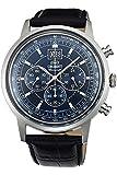 Orient Herren Chronograph Quarz Uhr mit Leder Armband FTV02003D0