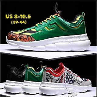 Fashion Men Harajuku Style Sneakers Breathable Mesh Running Sports Shoes Casual Flats Athletic Walking Sneakers 2018(White,US 8 (EU 39))