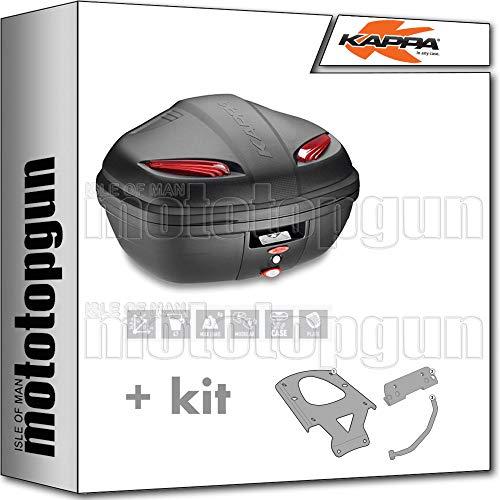 kappa maleta k47n manta 47 lt + portaequipaje monolock compatible con benelli trk 502 x 2020 20