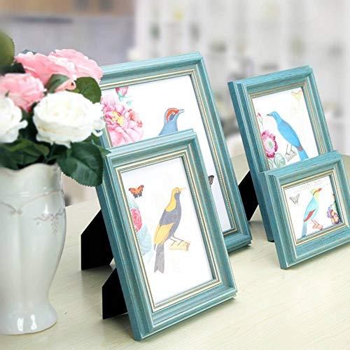 YUKUAS fotolijst met fotokaart 5 maten Art Decor Desktop Ornamenten Bruiloft Fotos Thuis Slaapkamer Baby Fotolijsten 5 Inch 1pcs