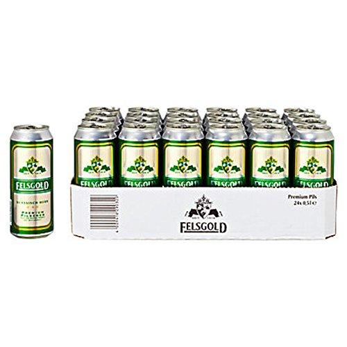 Felsgold Pilsener - Pils Bier 4,7 % Vol. - 24 x 0,5 Liter Dosen inkl. Pfand