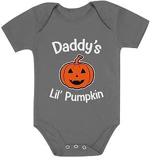 Tstars Halloween Daddy's Lil' Pumpkin Cute Jack O' Lantern Baby Bodysuit