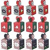 12 Piezas Cajas Dulces de Navidad, Cajas Regalo Navidad, Cajas de Golosinas Decorativas, para la Decoración del árbol de Navidad, Caja de Regalo para Niños