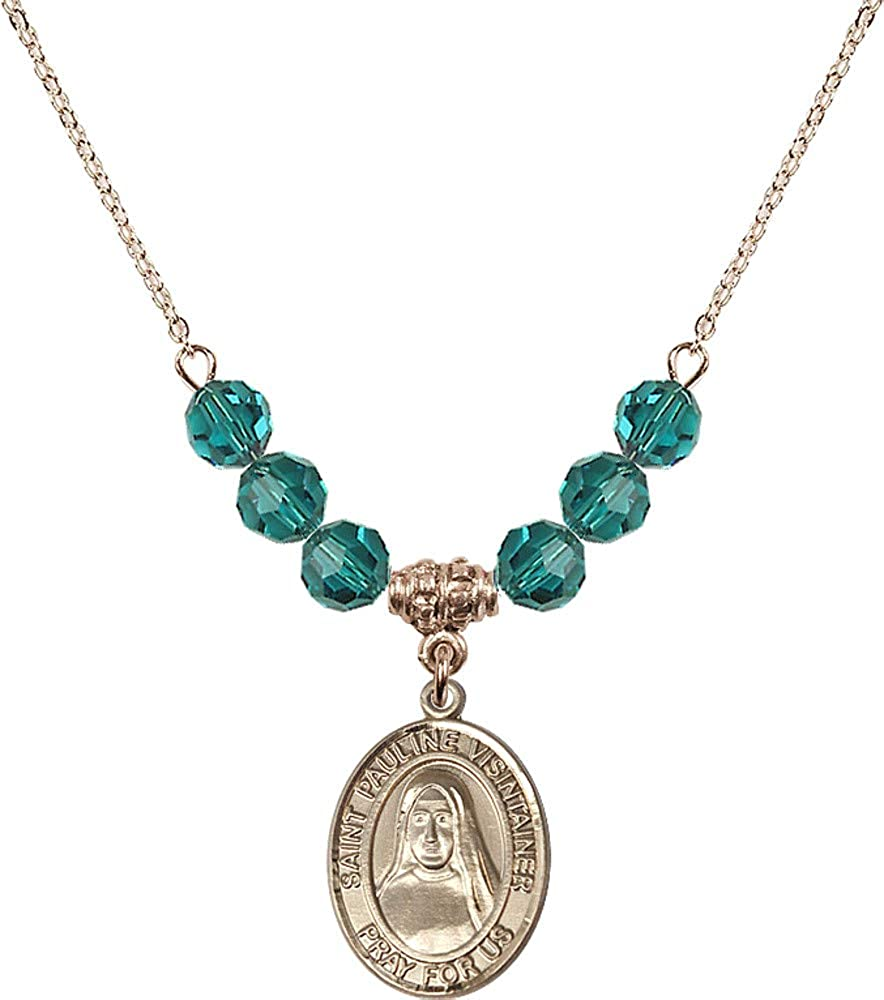 Bonyak Jewelry 18 Inch Hamilton Philadelphia Mall Gold Blue Plated Necklace Excellence w 6mm