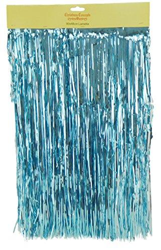Glänzender Lametta - Christbaumschmuck (Eisblau)