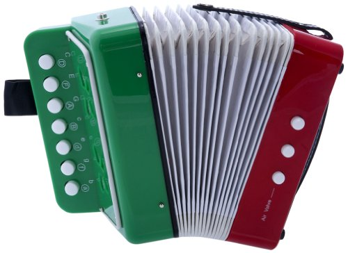 CHILD BUTTON ACCORDION MEXICAN FLAG