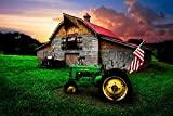 RENWUANG Adult 1000 Piece Jigsaw Puzzle -Wooden Puzzle- Farm Tractor Pattern - Can be Used as a Modern Home Decoration