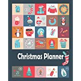 Christmas Planner: Holiday shopping list organizer 2020, plan for gift, card, meal recipe, budget, decorations, Black Friday and Ciber Monday shopping list, included Card address tracker, Beautiful Christmas decorations Dark blue cover