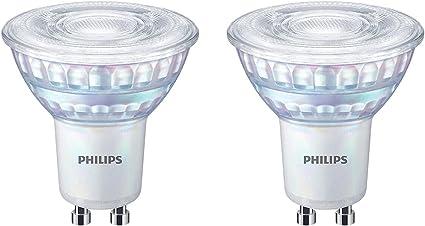 Philips - Bombilla LED cristal 35W GU10 reproducción cromática 90 luz blanca cálida 36º apertura , regulable pack 2