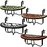 Deuba Balkontisch klappbar Roma Mosaik Balkonhängetisch witterungsbeständig Hängetisch Klapptisch Mosaiktisch Mosaik