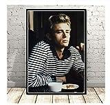 NVRENHUA Poster und Drucke Bilder von James Dean Smoke