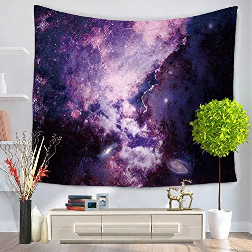 N\A Tapiz de decoración Espacial, Universo Abstracto Nebulosa Galaxia Chakra Infinito psicodélico fotografía impresión Pared Colgante para Dormitorio Sala de Estar Dormitorio, Violeta