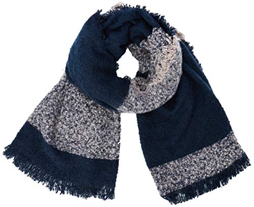 ICHI Damen IABEATRICE STRIP SC Schal, Blau (Total Eclipse 14044.0), Size (Herstellergröße: One)