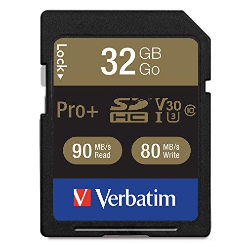 Verbatim Pro+ Memoria Flash 32 GB SDHC Clase 10 UHS - Tarjeta de Memoria (32 GB, SDHC, Clase 10, UHS, 90 MB/s, Negro)