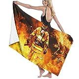 XCNGG Fire Fighter Toalla de baño Suave y súper Absorbente, Adecuada para Hotel, Piscina, Gimnasio, Playa, 32 x 52 Pulgadas