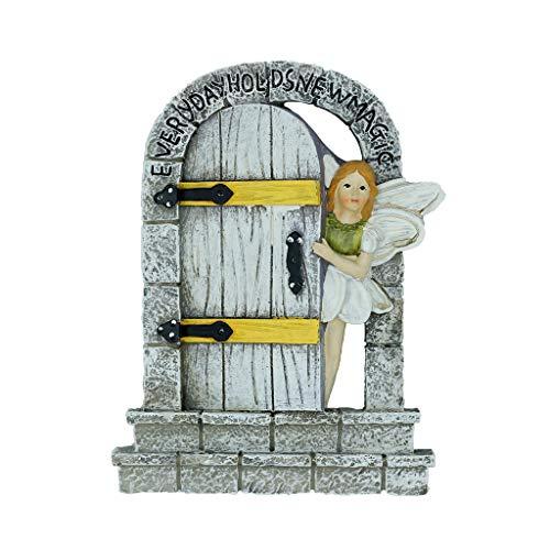 MUAMAX Puerta de jardín de hadas en miniatura para jardín