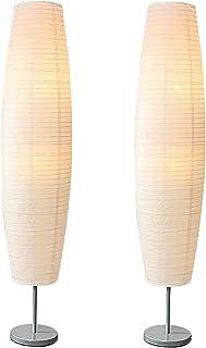 Lampe En Papier De Riz Avec Base En Métal, Style Japonais Salon Lampe Déco, Papier Lampadaire Étude Ou Espace De Vie Appro...