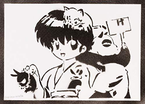 Ranma 1/2 Saotome Poster Plakat Handmade Graffiti Street Art - Artwork