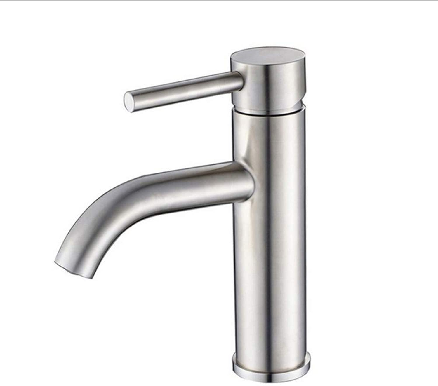 Xiujie Faucet Stainless Steel Brushed Bathroom Basin Faucet New Above Counter Basin Hot and Cold Water Mixer