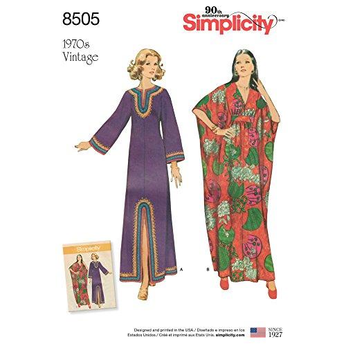 Simplicity US8505A Vintage-Schnittmuster für Damen, Papier, weiß, 22 x 15 x 1 cm