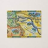 Lewis & Clark Expedition Map Jigsaw Puzzles 1000 piezas, desafiantes y educativos Puzzles Juegos Juguetes, pintura abstracta Puzzle para niños adultos