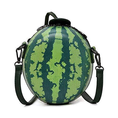 WILDFINDING Fruit Apple Pineapple Strawberry Watermelon Shape Women PU Leather Clutch Purse Cross Body Bag (Watermelon),19CM