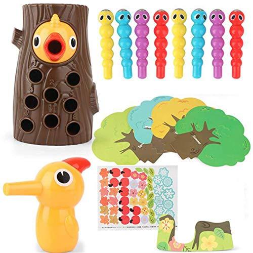 Juguetes de educación temprana de pájaro carpintero regalos para niños pájaro carpintero captura de insectos   Juguete para niños pequeños de 2 a 3 años de edad   Juguetes preescolares   Juegos de jug