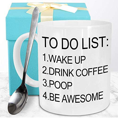 Funeon Funny Coffee Mug Funny Gifts for Men Dad Woman Friends Birthday Christmas Gag Gift Ideas product image
